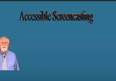 Accessible Screencasting
