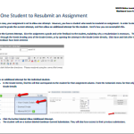 Allow One Student to Resubmit an Assignment (PDF)