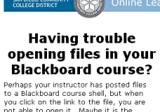 Browser issues that may prevent files from being opened on Blackboard
