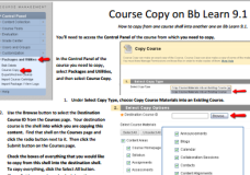 Copying content from one course shell into another one on Blackboard (PDF)