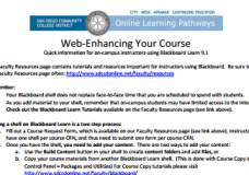 Helpful Tips for your Web-Enhanced Course (PDF)