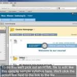 Editing HTML files on the Blackboard server