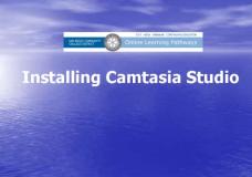 Installing Camtasia Studio