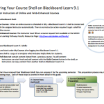Preparing Your Course Shell on Blackboard (PDF)