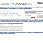 Set an Assignment to Allow Multiple Submissions (PDF)