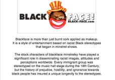 """Blackface"" minstrelsy"