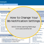 How to change your Blackboard notification settings