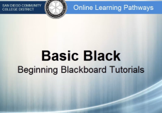 Basic Black – Add an Announcement to your course