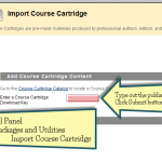 How to import a publisher's course cartridge on Blackboard