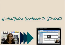 Audio Video Feedback to Students Using Screencastomatic