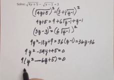 Problem Review – Equations Involving Fractions and Radicals