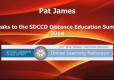 SDCCD Distance Education Summit 2014 – Pat James Keynote Address