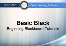 Basic Black Playlist – an Introduction to Blackboard for Beginners