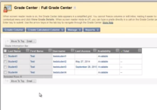 Blackboard Grade Center – A Basic Overview