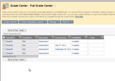 Blackboard Grade Center – A Basic Overview