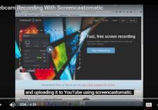 Webcam Recording With Screencastomatic
