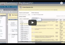 Reusing Questions in Blackboard 9.1