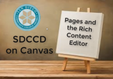 Canvas Pages and the Rich Content Editor