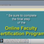 How to apply for certification in the Online Faculty Certification Program